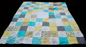 How to make a guest book quilt for a wedding